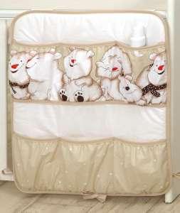 MamaKiddies Baby Bear Zsebes tároló - Jegesmaci #bézs 30401680