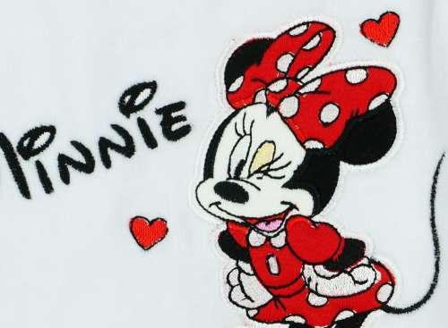 Disney Minnie lányka hosszú ujjú plüss Rugdalózó 62-es