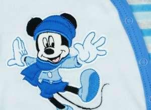 Disney Mickey fiú hosszú ujjú plüss Rugdalózó elöl patentos 62-es 30402078 09bca047b8
