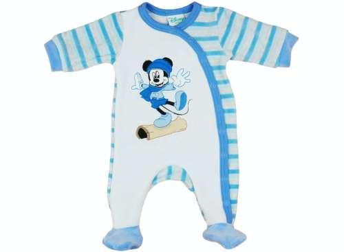 Hosszú ujjú, plüss Rugdalózó - Mickey Mouse
