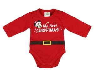 Disney Mickey hosszú ujjú kombidressz Karácsony (méret: 74) 30402176