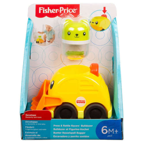 Fisher Price Csörgős járművek - sárga bulldozer