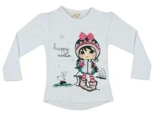 Hosszú ujjú póló - Kislány #fehér 30480783 Gyerek hosszú ujjú póló