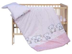 2 részes Babaágynemű - Maci holddal  rózsaszín. Lány. Puha pamut ágynemű ... e33948a3c6