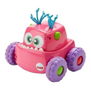 Fisher Price felhúzható Járgány - Szörny #rózsaszín 30494101 Fejlesztő játék babáknak