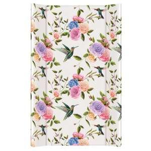 Ceba merev Pelenkázó lap 50x70cm - Virágok #fehér-rózsaszín 30426456