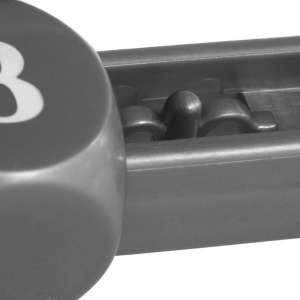 TUNIRO Manuális eredmény számláló asztali focihoz, fekete/ezüst 2 db 30427485