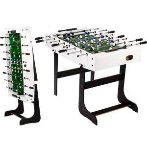 Asztali foci BELFAST 121 x 101 x 79 cm - fehér 30427546
