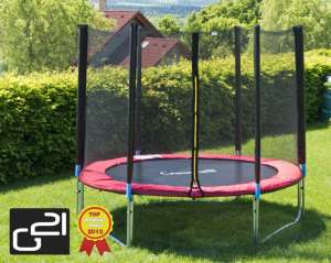 G21 Trambulin biztonsági hálóval, 250cm #piros 30428678