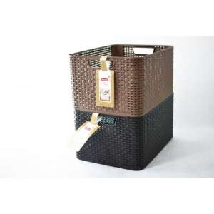 Műanyag tároló doboz STYLE BOX - L- barna CURVER 30431254