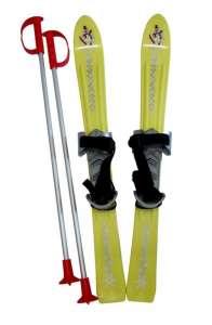 Plastkon gyermek sílecek 70cm - sárga 30433165