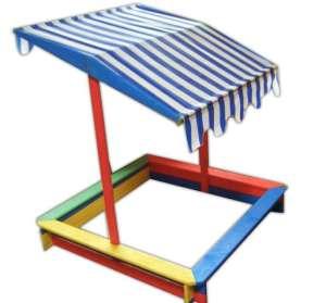 Gyerekhomokozó tetővel FSC - színes 30433479