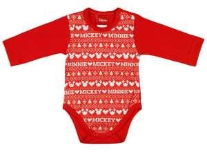 2209ba3573 Disney Mickey és Minnie feliratos, sormintás hosszú ujjú Kombidressz piros  Karácsony 30487467 Mickey Body