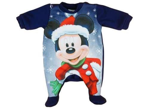 Belül bolyhos, hosszú ujjú Rugdalózó - Mickey