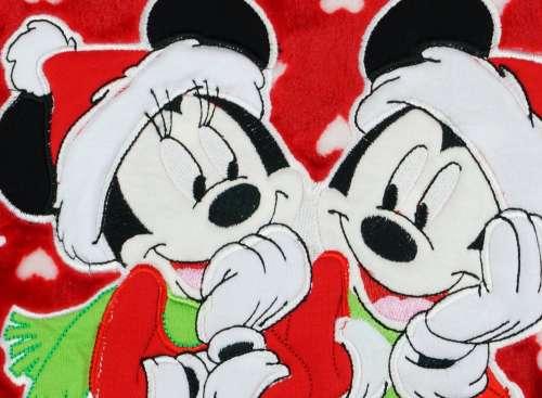 Disney Mickey és Minnie wellsoft Takaró 90x150cm - Karácsony #piros