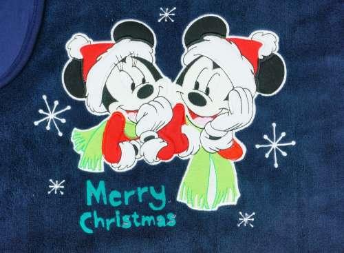 Disney Mickey és Minnie pamut-wellsoft Takaró - Karácsony 70x90cm #kék