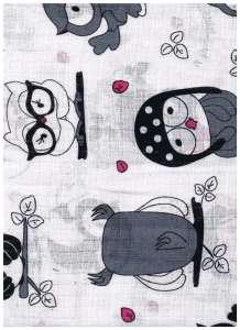 Textil pelenka 1db - Bagoly #szürke-fehér 30434789 Textil pelenka