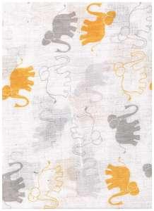 Textil pelenka 1db - Elefánt #szürke-sárga 30434792
