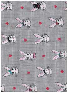 Textil pelenka 1db - Nyuszi #szürke 30434793