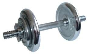 Cserélhető súlyzó egykezes- 8,5 kg krómozott súlytárcsa 30435256