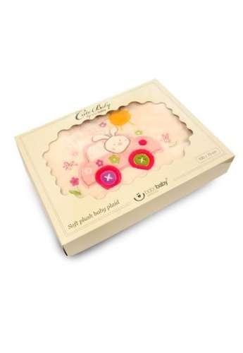 Bobobaby dupla rétegű plüss Takaró 75x100cm dobozban - Nyuszi  pink ... 3dd9c2a288