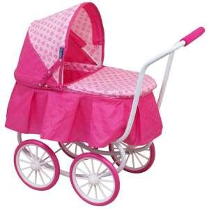 4 kerekű klasszikus Játék babakocsi #rózsaszín