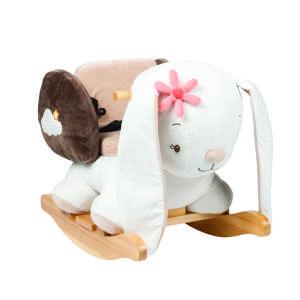 Nattou Hintázó állatka - Mia, a nyuszi #fehér-barna 30435762 Hintaló, hintázó állatka