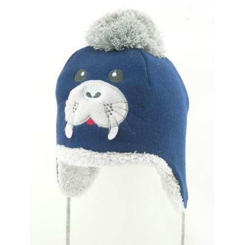Téli fiú Sapka - Fóka  kék  6801133ec0