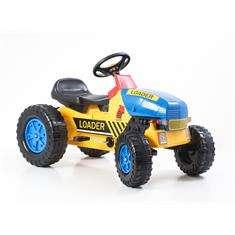 Lábbal hajtós Traktor #sárga-kék 30439120 Pedálos jármű