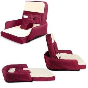 Multifunkciós 2in1 hordozható Babaágy és táska, matraccal #bordó 30439165