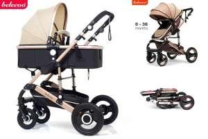 Belecoo Luxury 2:1 Babakocsi #bézs-fekete 30439210