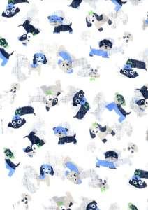 Textil pelenka 1db - Kutya #kék 30439729