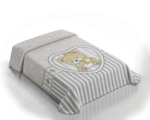 Belpla Baby Sweet Pléd - Koronás Maci 80x110cm  szürke 04dc39588b