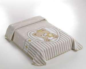 Belpla Baby Sweet Pléd - Koronás Maci 80x110cm  bézs 5aa0ddf5d0