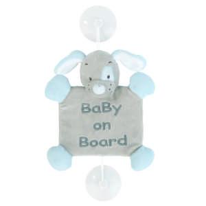 Nattou plüss - Kutya #szürke 30443914 Baby on board jelzés