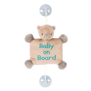 Nattou plüss - Maci #barna 30443916 Baby on board jelzés