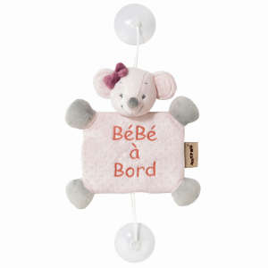 Nattou plüss - Maci #rózsaszín 30443918 Baby on board jelzés