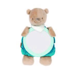 Nattou plüss babafigyelő Tükör - Maci #barna-kék 30443919 Kiegészítők utazáshoz