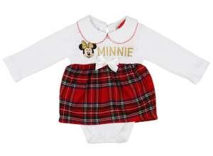 Disney Minnie galléros, hosszú ujjú Kombidressz kockás betéttel 30488854