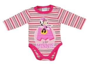 Disney Minnie csíkos hosszú ujjú kombidressz glitterrrel (74) 30450472