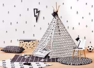 Iplay Indián sátor #fekete-fehér 30480933