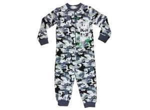 Belül bolyhos, overálos Pizsama #szürke-zöld 30481822