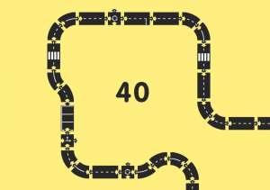Waytoplay rugalmas Autópálya 40 db-os (King of the Road) 30489208 Vonat, vasúti elem, autópálya