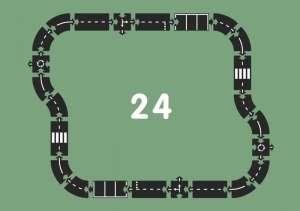 Waytoplay rugalmas Autópálya 24 részes 30481299 Vonat, vasúti elem, autópálya