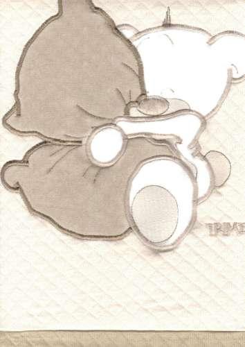 Pamut Babapléd - Maci #barna-bézs