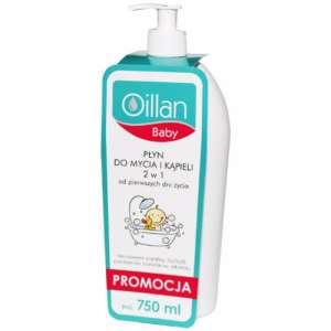 Oillan Baby 2in1 Mosdató és Fürdő folyadék 750ml 30474840 Fürdetőszer