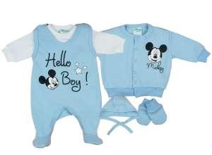 Disney 5 részes újszülött Szett - Mickey Mouse  kék-fehér fa1a1059cb