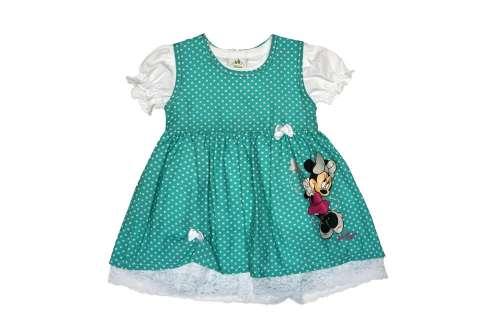 Disney Minnie pöttyös lányka ruha pólóval  6f4ca79a64