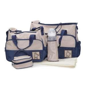Cangaroo Stella Pelenkázó táska szett #sötétkék-bézs 30494840 Pelenkázó táska
