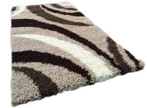 Shaggy Marquesa Szőnyeg 80x150cm #barna-bézs-fehér 30496002